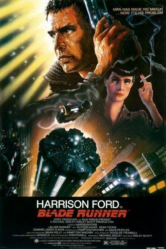 Bladerunner Harrison Ford one sheet - Große Laminierte Poster- Größe 100 x 70 cm (ca.)