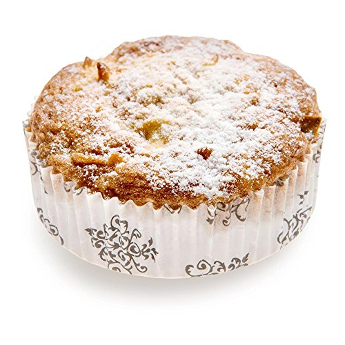 Panificio Premium 3.2-inch, 4 oz Baking Cups: Regular-Ridged Round Paper Baking Cups Perfect for Muffins, Cupcakes or Mini Snacks - Vintage Floral Design - Disposable and Recyclable - 200-CT