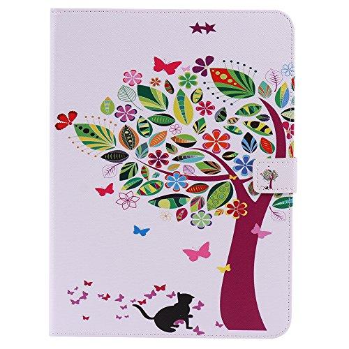 Funluna Samsung Galaxy Tab S2 9,7 Funda, Cuero Cubierta de Protectora Case con Auto-Sueño/Estelar y Ranuras para Tarjetas Carcasa para Samsung Galaxy Tab S2 9,7' SM-T810/815, Cat&Tree