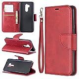 Étui pour téléphone Cas pour Portefeuille multifonctionnel LG G7 Coque en cuir de téléphone...