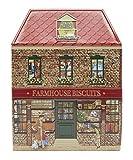 Bauernkekse geprägt verziert Schokoladen Keksdose mit Weihnachtsmotiven Made in England - 1 x 300 Gramm