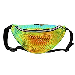 Naimo Waterproof Holographic Laser Fanny Pack Bum Bag Purse Waist Bag
