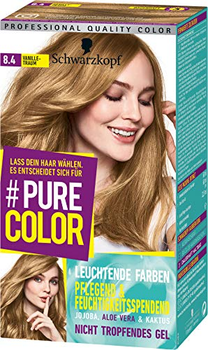 SCHWARZKOPF #PURE COLOR Coloration 8.4 Vanilletraum Stufe 3, 1er Pack (1 x 143 ml)