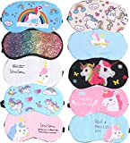 Unicorn Sleeping Masks, 10 Pack Soft Plush Blindfold Cute Unicorn Horn Sleep Mask,| Eye Mask Cover for Girls Women Kids, Eyeshade for Teens Girls