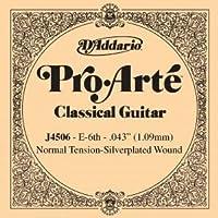 CUERDA SUELTA GUITARRA CLASICA - Dエaddario (J/4506) Pro/Arte Normal (Minimo 5 Cuerdas) 6ェ *