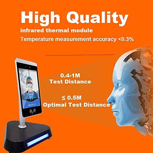 HYLH Riconoscimento facciale della termocamera AI Rilevamento della Temperatura corporea Telecamera di monitoraggio Allarme vocale Controllo dell'accesso al Viso Presenza del Tempo