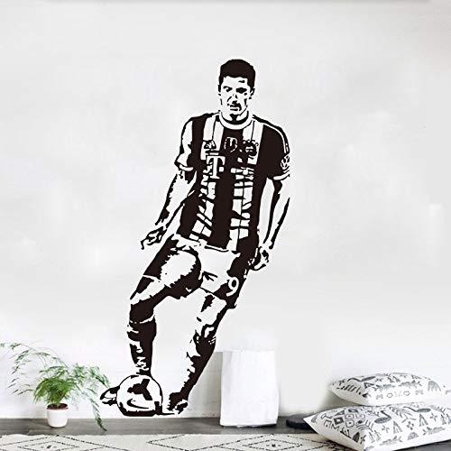 Wandaufkleber Lewandowski, Wandtattoo Vinyl Kinderzimmer Abnehmbare Art Decor Fußballweltmeisterschaft Sport Thema Schlafsaal Und Fitnessstudios Wandkunst Aufkleber Für Wohnzimmer