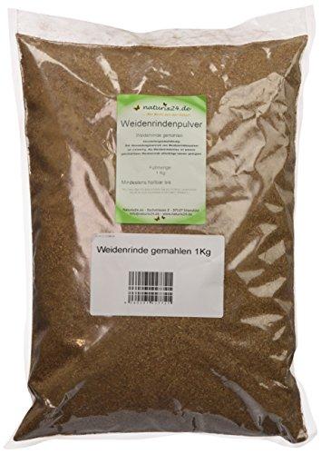 Naturix24 Weidenrindenpulver, Weidenrinde gemahlen – Beutel, 2er Pack (2 x 1 kg)