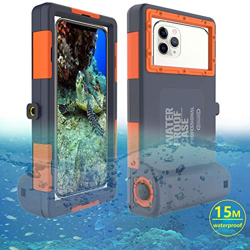 Estuche de buceo Funda impermeable para 15M iPhone 6/6 Plus/6s Plus/7/7 Plus/8/8+/X/Xs Max/XR/11/11 Pro/11 Pro Max/12/12 mini/12 pro Samsung Galaxy S6/S8/S8+/S9/S9+/S10/S10+/S10e/Nota 8/9/10/10+