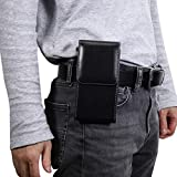 for iPhone 11 Pro,XS,X Holster, Vertical Leather Belt Pouch
