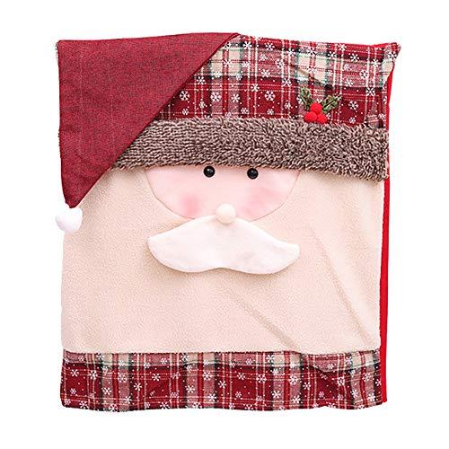 YOJINKE Weihnachten Dining Stuhlhusse Stuhlüberzug Stuhlbezug für Weihnachtstisch Dekoration, Haus Dekoration, Esstisch Deko und Tischdecken