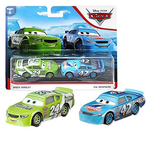 Auswahl Doppelpack | Disney Cars | Fahrzeug Modelle 2020 | Cast 1:55 | Mattel, Typ:Brick Yardley & Cal Weathers