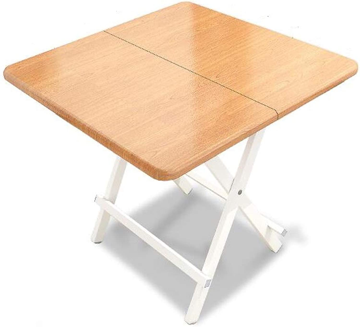 SHWSM Folding Table Small Square Table for Household Use Folding Table Portable Square Table Simple Small Table Folding Table (Size   60×60×55cm)