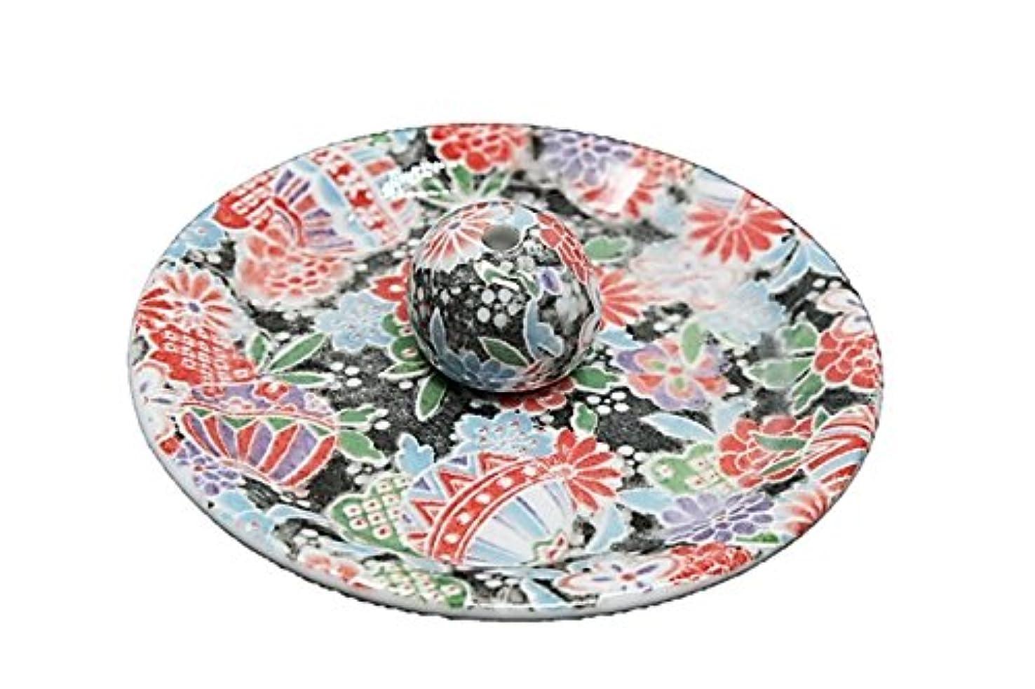 疾患警告する旅行9-13 京雅黒 9cm香皿 お香立て お香たて 陶器 日本製 製造?直売品