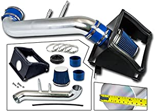 Cold Air Intake System with Heat Shield Kit + Filter Combo BLUE Compatible For 15-19 Compatible Ford F150 5.0L V8