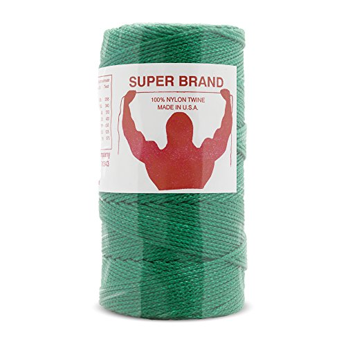 Green Nylon Twine, Braided. Size #36, 1/4 lb 1-Pack