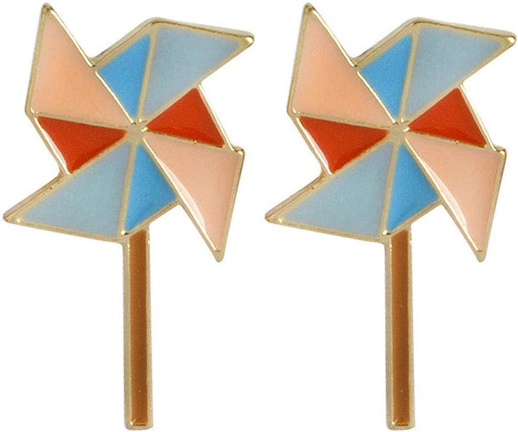 Charmart Windmill Lapel Pin 2 Piece Set Enamel Brooch Pins Accessories Badges Gifts