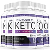 (5 Pack) Pharmalite XS Keto Advanced Weight Loss Pills Pharmalite XS Keto Diet Pills Advanced Supplement (300 Capsules)