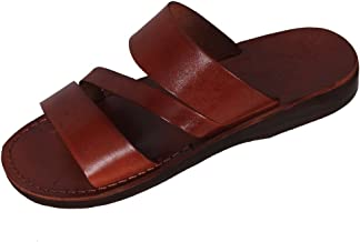 mens roman style leather sandals