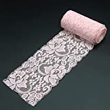 3 Inch Lace Ribbon Lace Fabric Decorating Elastic Stretch Sewing Lace Trim 10 Yards Pink