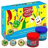 Artberry Fingerfarben Set Für Kinder 6 Stück Gemischt Mit Aloe Vera | 6x100ml Ungiftige Fingermalfarben Für Kinder | Von Erich Krause