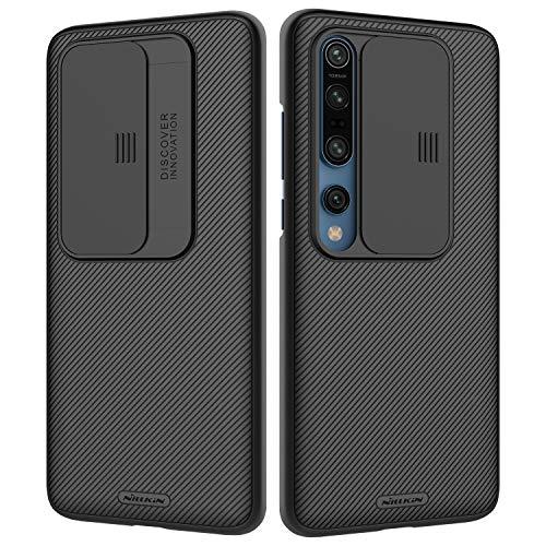 NILLKIN Schutzhülle für Xiaomi Mi 10/10 Pro, [Kameraschutz] Hybrid-Stoßfänger Premium-Stoßfänger nicht sperrig, schmal, PC-Hülle für Xiaomi Mi 10/10 Pro, Schwarz
