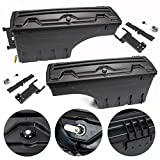 LucaSng ABS Truck Truck Bed Tool Box Storage Case Compatible with Ford F-150 2015-2019 Pickup Set of 2 Driver and Passenger Side Wheel Well Storage Case Tool Box