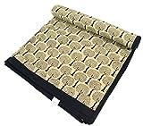 Guru-Shop Blockdruck Tagesdecke, Bett und Sofaüberwurf, Handgearbeiteter Wandbehang, Wandtuch - Design 11, Beige, Baumwolle, Größe: Single 150x200 cm, Tagesdecken mit Blockdruck