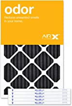 AIRx ODOR 16x25x1 MERV 8 Carbon Pleated Air Filter - Made in the USA - Box of 6