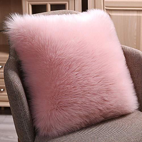 Liery - Funda de cojín de lana de imitación para sofá o cama