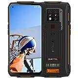 OUKITEL WP7 Dual 4G Télephone Portable Incassable Debloqué IP68, 48MP Caméras avec Vision Nocturne Infrarouge,Écran 6.53' FHD+,10000 mAh,Helio P90 8GO+128GO Android 9.0 Rugged Smartphone,NFC