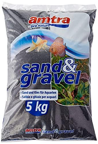 Amtra Sand und Kies für helle schwarze Aquarien, 5 kg