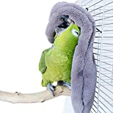 QBLEEV Cozy Corner Fleece Bird Blanket,Parrot Cage Snuggle Hut Cuddle Nest Hanging Toy,Small Animals Shelter Covers Plush Bedding for Parakeet Cockatiel Lovebirds Pigeon Eclectus