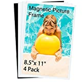HIIMIEI Magnetic Photo Frames for Refrigerator 8.5x11, 4 Pack Fridge Magnets Picture Frame Photo Pocket,Perfect for Displaying Frames,Children Artworks and Schedules