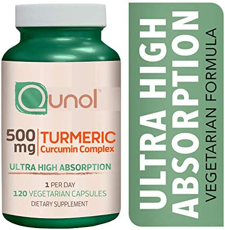 Turmeric Curcumin 500mg Vegetarian Capsules Qunol Ultra High Absorption Joint Support Dietary product image