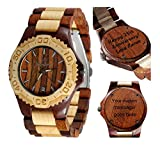 Watch for him - Wooden wristwatches for Women-Wood wristwatches for Men -Wood Engraving-Custom Engraving Watch - Wood Craft - Unisex Wrist Watch - Personal Message Laser Engraving - Gamma I