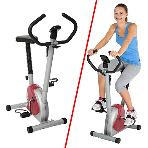 AIMAOD Cyclette Trainer da Casa Pedale Regolabile con Display LCD Cyclette da Camera Fitness F-Bike, Fino a 100 kg (EU STOCK)
