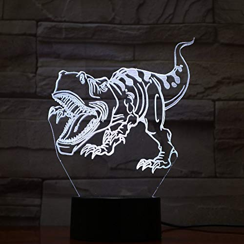 WAGUZA 3D 7 Color Lamp Visual Led Night Lights for Kids Touch USB Table Lampara Lampe Home Decor Gift Table Lights
