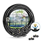 Innoo Tech Misting Cooling System 75.4FT (23M) Misting Line + 34 Upgrade Brass Mist Nozzles + a Brass Adapter(3/4') Outdoor Mister for Patio Garden Greenhouse Trampoline for waterpark