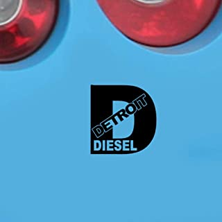 pegatinas coche Detroit Diesel Turbo Car Stickers Funny Rolling Coal Fwd Truck Window Car Styling For Car Laptop Window Sticker