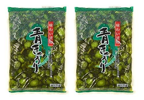 【まとめ買い】青きゅうり 味わい漬物 1kg ×2袋 【お徳用・業務用】