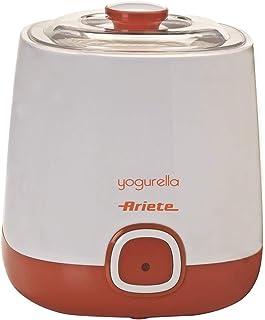 comprar comparacion Ariete 621 Yogurtera, capacidad 1 litro, 20 W, 12 horas preparación, tapa doble, diseño compacto apto lavavajillas, Blanco...