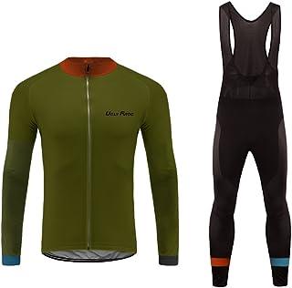 comprar comparacion Uglyfrog MTB Deportes al Aire Libre, Ropa Ciclismo Invierno, Hombre Larga Conjunto + Pantalones de Acolchado 20D, Montar R...