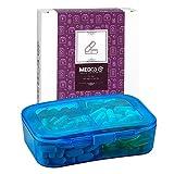Boîte à Vitamines - Pilulier de Voyage & Boîte à Médicament 6 Compartiments pour...