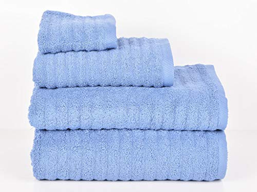 MI CASA Azul Set 2 Toallas Pool Lavabo 500GR, 100% Algodón, 50X90