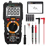 Tacklife DM01M Professional Digital Multimeter 6000 counts, 1000V TRUE RMS Automatic Range Voltmeter with NCV and LIVE, Polymeter measures voltage and current, Ohmmeter continuity with Backlit LCD