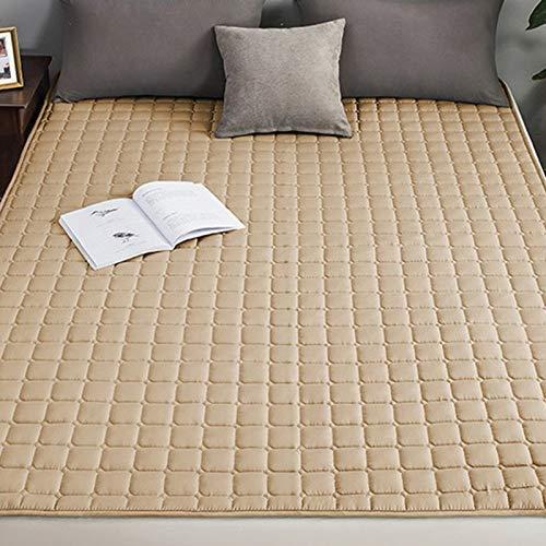 Quilting Solid Color Mattress Topper Ergonomic Design Washable Non-slip Tatami Futon Floor Mat Breathable Comfortable Bedroom Living Room ProtectorC-180x200cm(71x79inch)