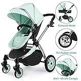 foto Multi cochecito 2 en 1 Carrito Bebe Hot Mom silla de paseo el capazo se convierte fácilmente en una silla y viceversa 2020 estilo de vida 889, Asiento para bebé vendido por separado - Verde