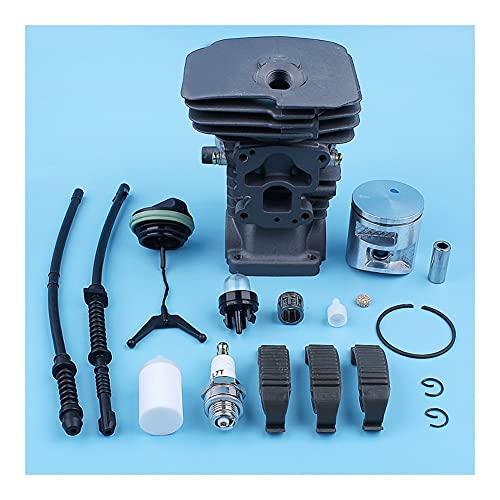 Kit de la tapa de la línea de retorno de combustible del pistón de cilindro de 41 mm for Husqvarna 435 440 440E 440E II -SERIES Motosierras Reemplazo de clip for piezas Ajuste perfecto