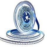 Tesfish Tiras de luz LED 12V, Blanco 6000K 5M Tiras LED 2835 IP20 240 LEDs/M 1200 LEDs en Total Súper Brillante Tiras de Luces LED para Dormitorio, Decoración de Cocina
